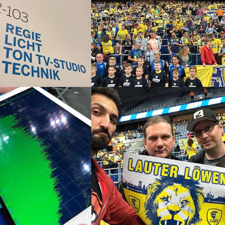 MediaApes und Quadrolux bei dem Handballspiel RNLöwen in der SAP Arena in Mannheim