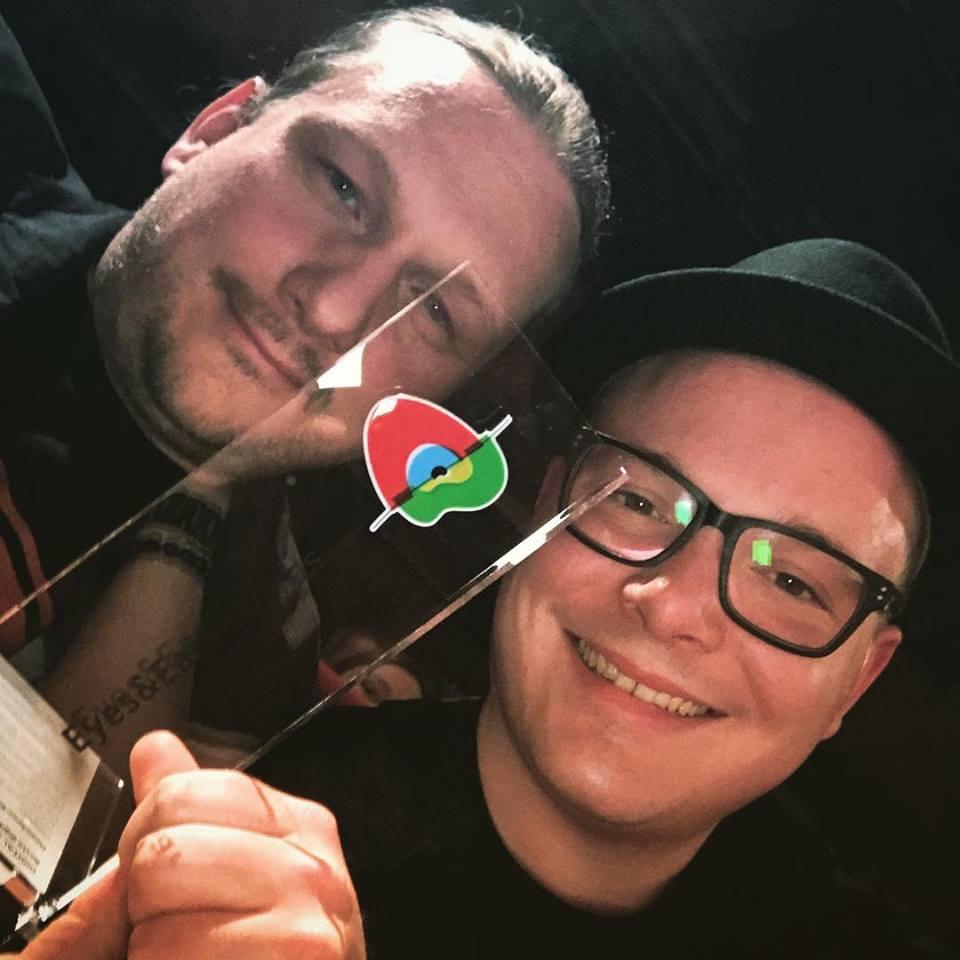 Tim Kosack und Sebastian Gsuck freuen sich über den ersten Preis
