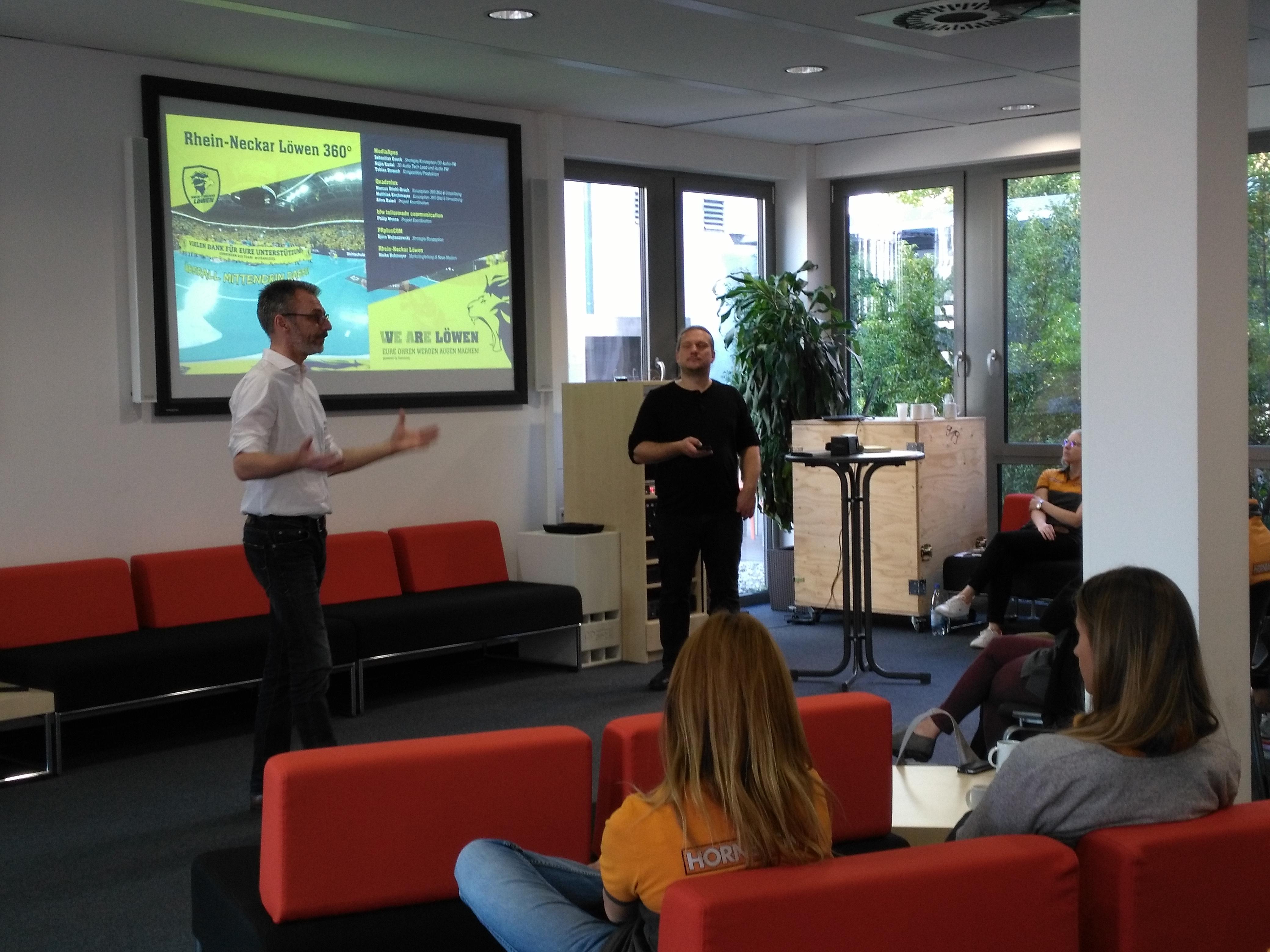 Vortrag bei Hornbach Björn W. und Sebastian G.