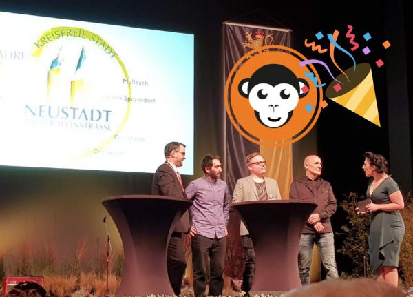 MediaApes, Marc Weigel, Screenday beim Neujahrsempfang 2019 Neustadt