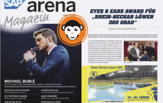 MediaApes in SAP Arena Magazin
