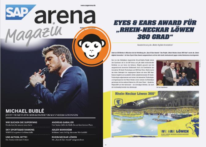 MediaApes in SAP Arena Magazin